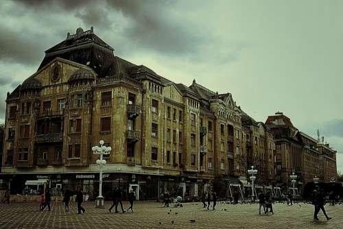Romania Timisoara Building Architecture Sky Clouds