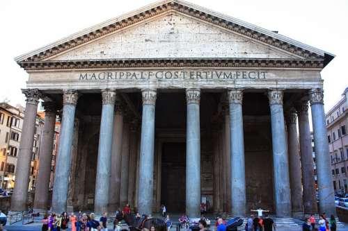 Rome Patheon Ancient Famous Architecture Church