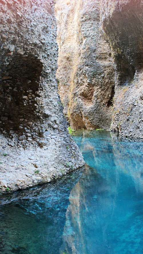 Ronda Gorge Andalusia Spain Water Blue Rock