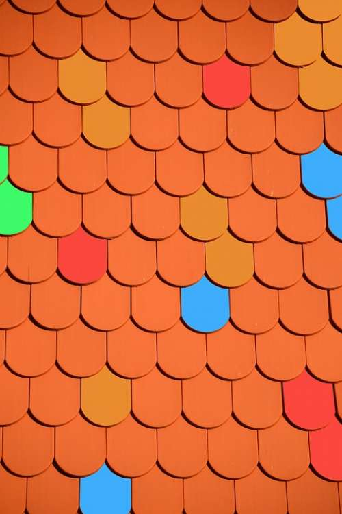 Roof Brick Roofing Tile Colorful Red Housetop