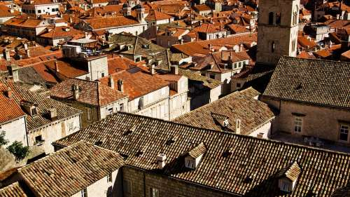 Roofs Orange Roofs Brown Roofs Dubrovnik Croatia