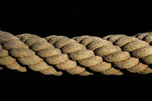 Rope Dew Leash Woven Knitting Fixing Close Up