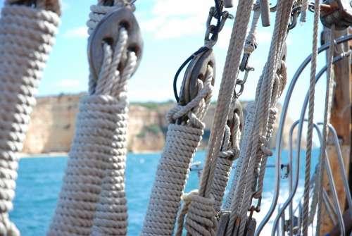 Ropes Ship Rigging Cordage Knot Boat Sail