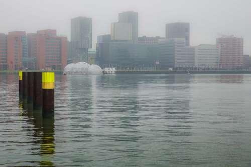 Rotterdam Rijnhaven Water Mooring Buildings View