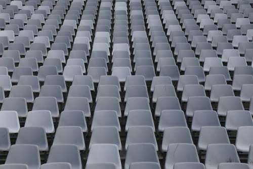 Rows Of Seats Sit Auditorium Football Stadium