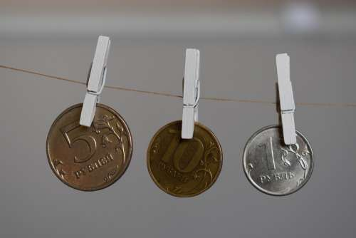 Ruble Money Russia Coins Coin Russian One Five