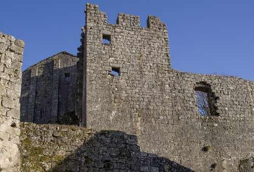 Ruin Wall Fortification Medieval Templars
