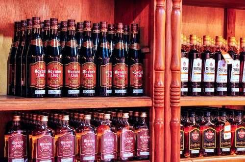Rum Havana Cuba Cuban Cuban Rum Shop With Rum
