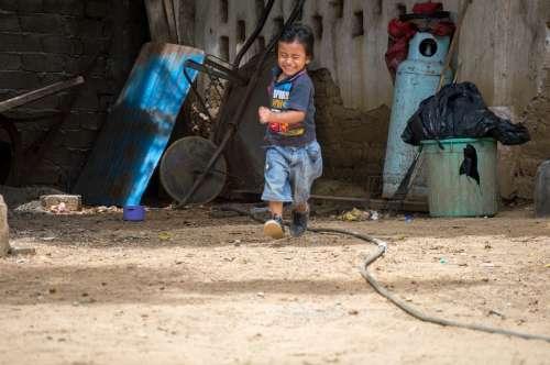 Running Child Smile Playing Happy Run
