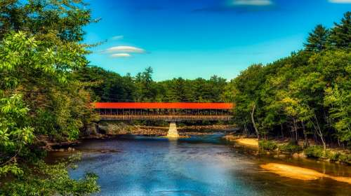 Saco River Covered Bridge New Hampshire America