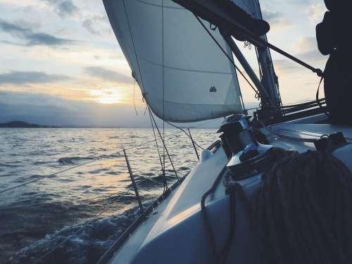 Sailboat Sailing Boat Sea Boat Sail Boat Water