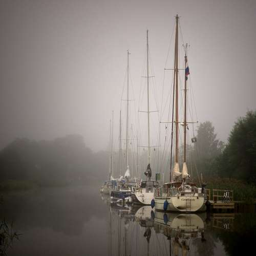 Sailboat Sailing Norsholm Gota Canal Channel