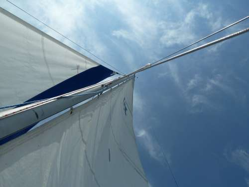 Sailing Sky Sailboat Freedom Nautical Summer Blue