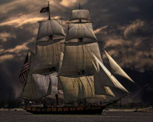 Sailing Ship Vessel Boat Sea Nautical Sailboat