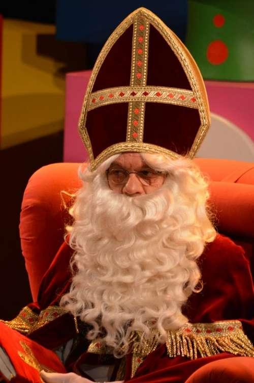 Saint Nicholas Sint Nicolaas White Beard Mitre