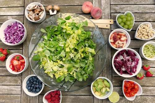 Salad Fruits Berries Healthy Vitamins Fresh Food