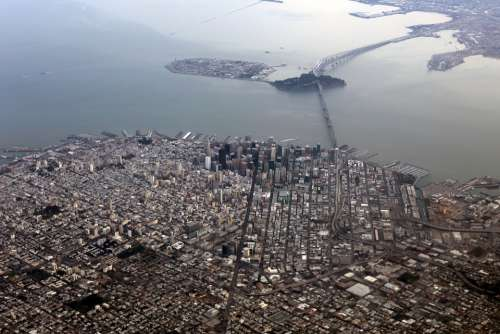 San Francisco Aerial Bay Area City Landscape