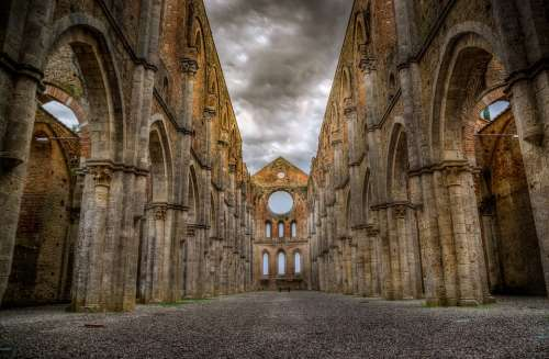 San Galgano Abbey Ruins Tuscany Church