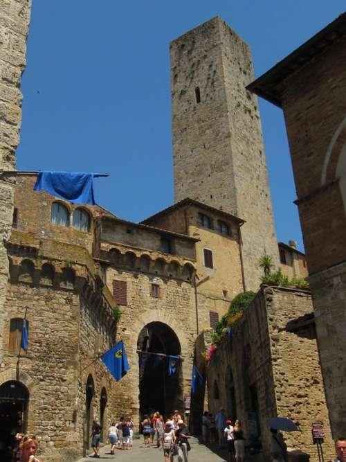 San Gimignano Gender Tower Tuscany Historically