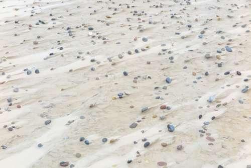 Sand Wind Beach Denmark Trace Transient Stones