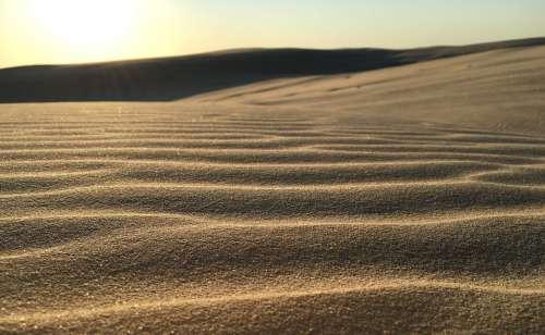 Sand Ripple Dunes Pattern Nature Texture Wave