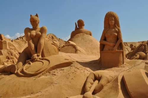 Sand Sculpture Sand Sculpture Art Statue Portugal