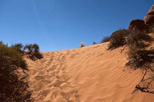 Sands Near Skyline Arch Sandstone Utah Landscape