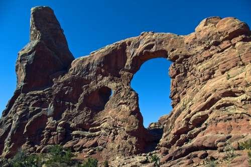 Sandstone Fin Turret Arch Sandstone Arches National