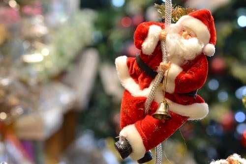 Santa New Year Christmas December Celebration Red