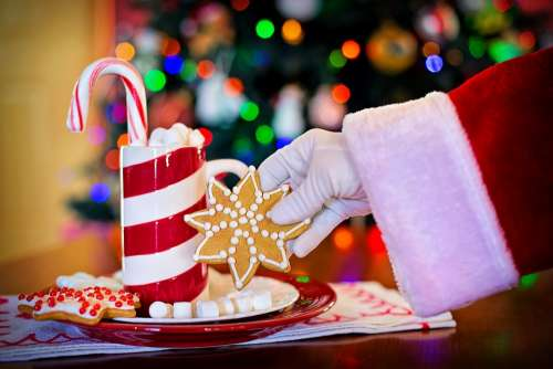 Santa Claus Cocoa Christmas Cookie