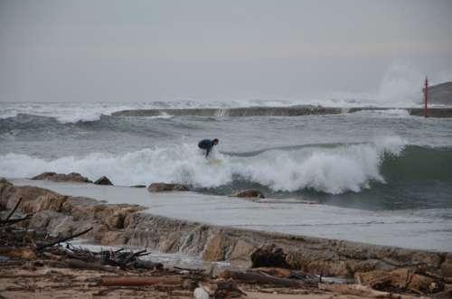 Santander Surf Waves Surf In The Raging Sea
