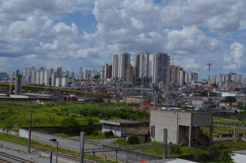 São Paulo Cities Skyline Horizon Brazil Buildings