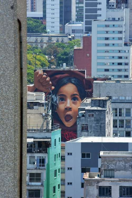 Saopaulo Brazil Graffiti Urban Creativity City
