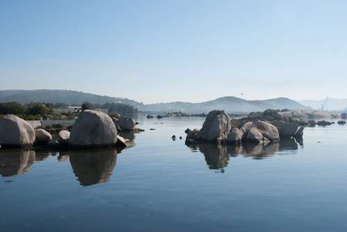 Sardinia Rocks Sea Coast Landscape Mediterranean