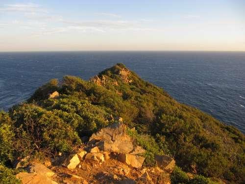 Sardinia Evening Light Costa Rei Sea Coast