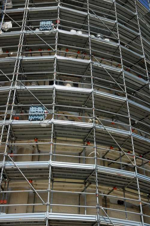 Scaffold Architecture Site Construction Work
