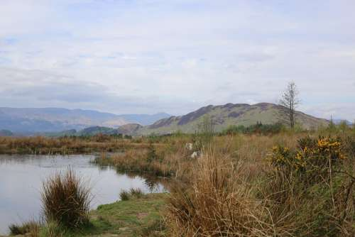 Scenery Highlands Scotland Glen Lake Hill