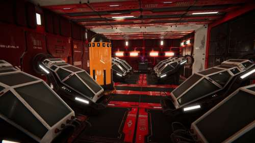 Sci-Fi Corridor Modular Cryo Tubes Stasis