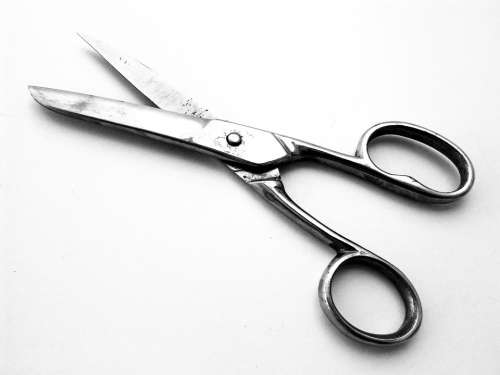 Scissors Cut Metal Tool Sharp Silver