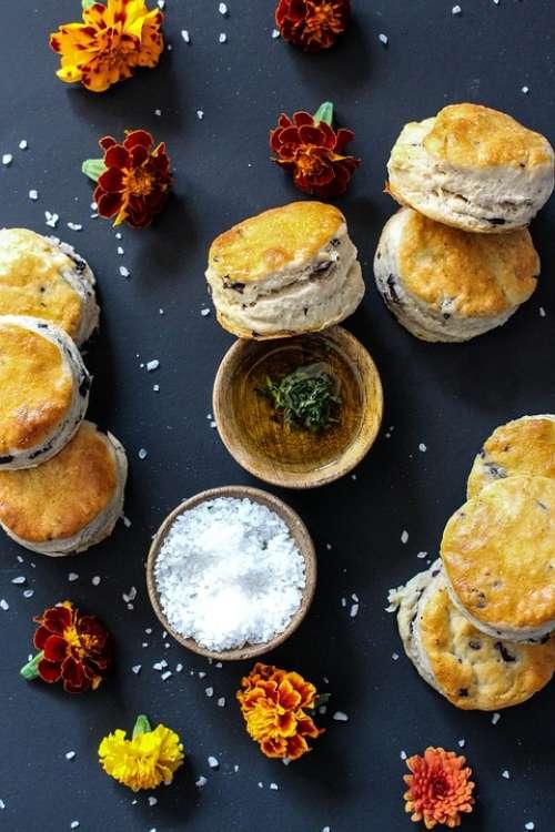 Scones Snacks Biscuits Herbs Salt Meal Food