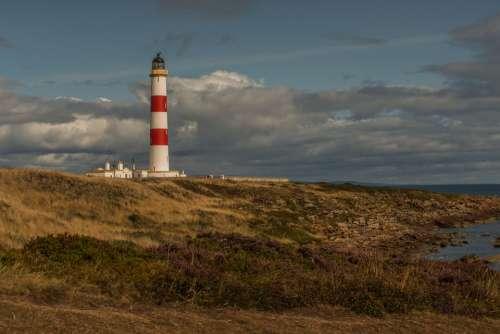 Scotland Lighthouse Abendstimmung Sea Landscape