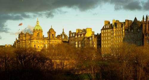 Scotland Edinburgh Facades Medieval City