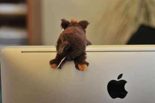 Screen Apple Logo Mac Stuffed Animal Imac Office