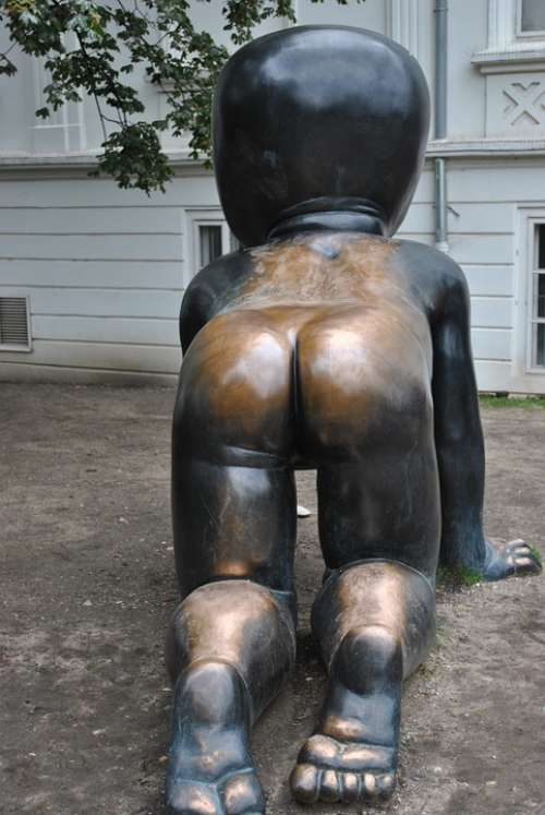 Sculpture Ass Brass