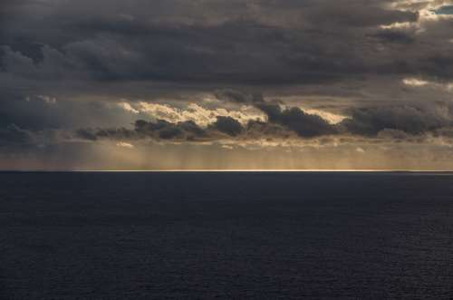 Sea Sunset Sky Mediterranean Clouds Abendstimmung