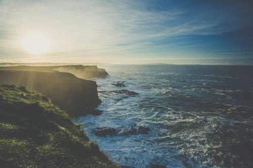 Sea Waves Rocky Rocky Coastline Scenery Scenic