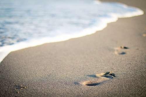 Sea Beach Vacation Sand Water Summer Steps Waves