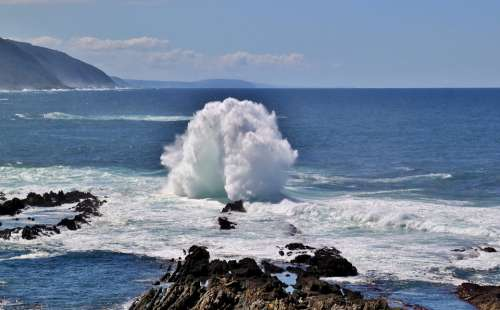 Sea Wave Beach Water Ocean Maritime Coast Spray