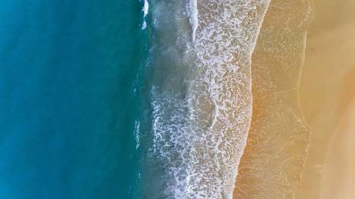 Sea Ocean Blue Water Wave Nature White Sand
