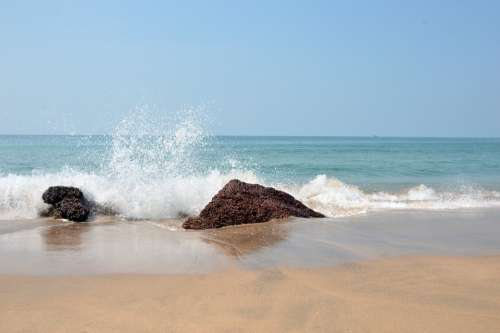 Sea Water Ocean Beach Wave Blue Sand Nature Sky